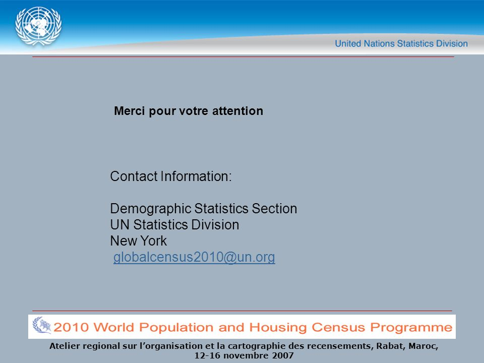Demographic Statistics Section UN Statistics Division New York