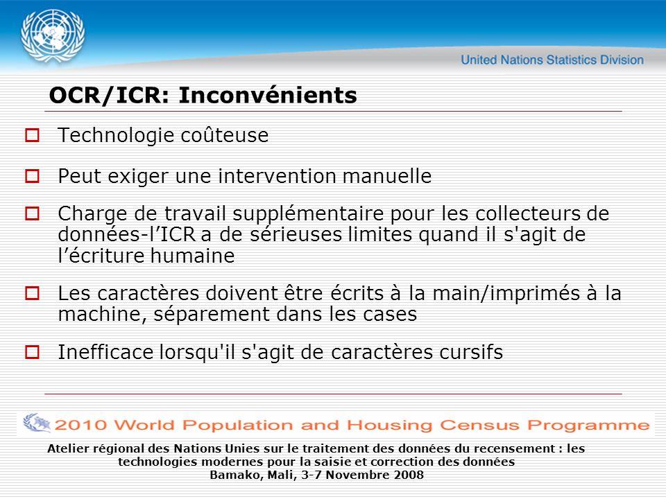OCR/ICR: Inconvénients