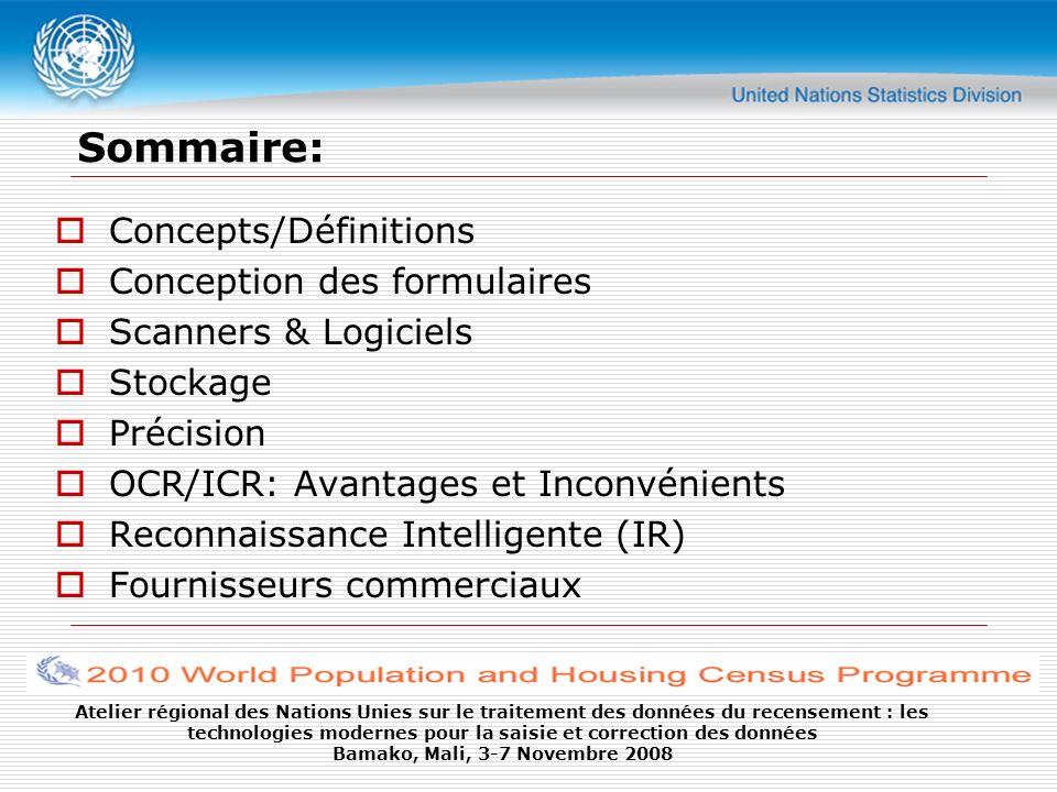 Sommaire: Concepts/Définitions Conception des formulaires