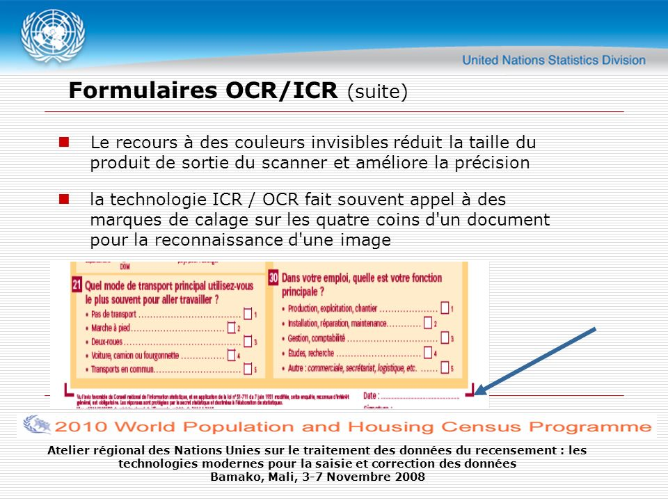Formulaires OCR/ICR (suite)