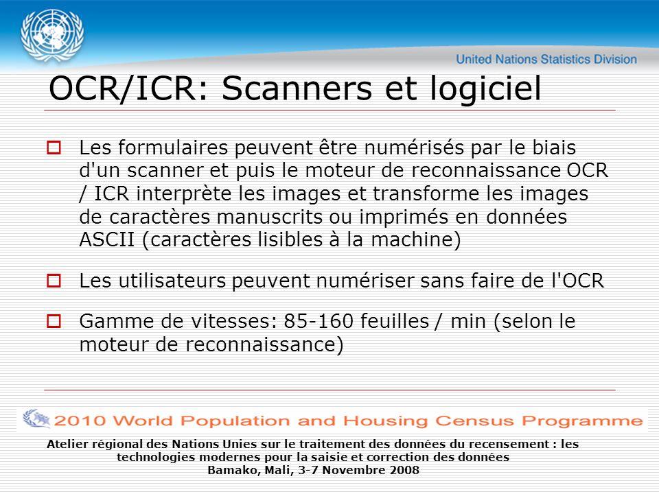 OCR/ICR: Scanners et logiciel
