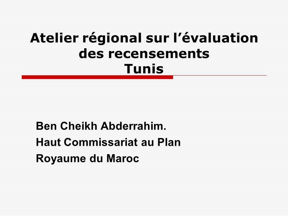 Atelier régional sur l'évaluation des recensements Tunis