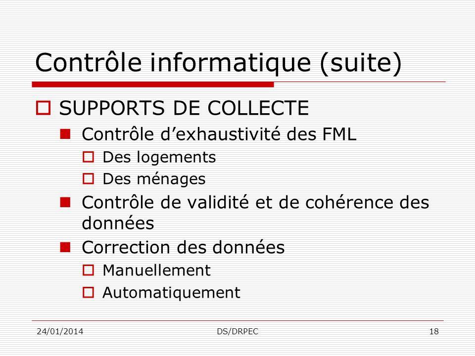 Contrôle informatique (suite)