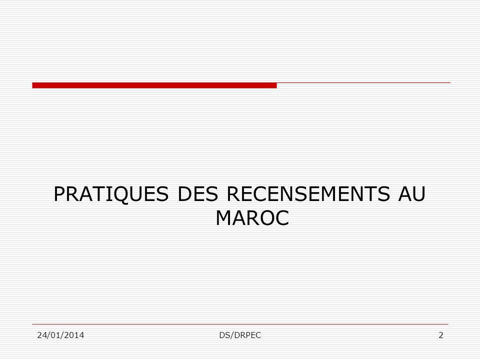 PRATIQUES DES RECENSEMENTS AU MAROC