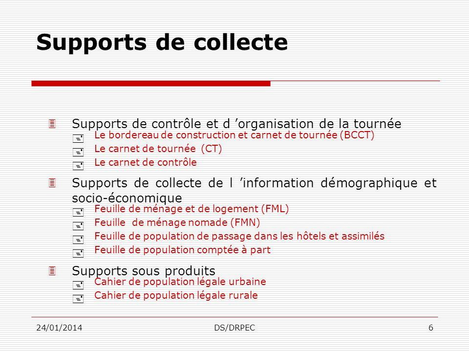 Supports de collecte Supports de contrôle et d 'organisation de la tournée. Le bordereau de construction et carnet de tournée (BCCT)
