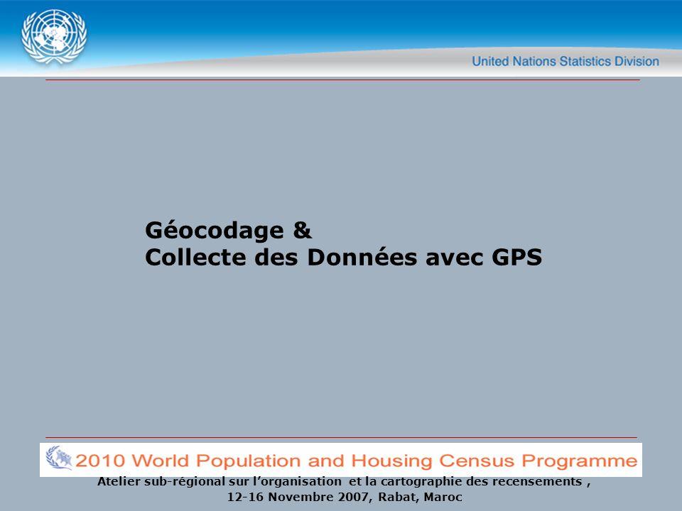 Géocodage & Collecte des Données avec GPS