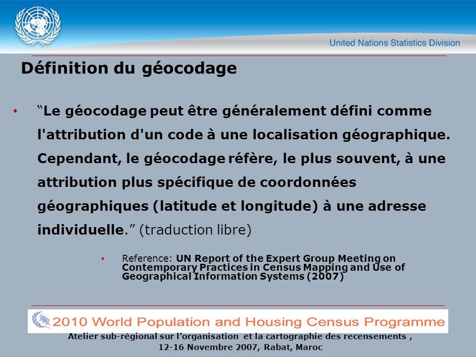 Définition du géocodage