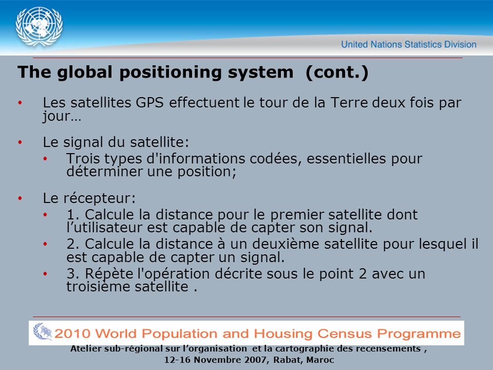 The global positioning system (cont.)