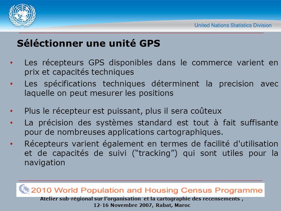Séléctionner une unité GPS