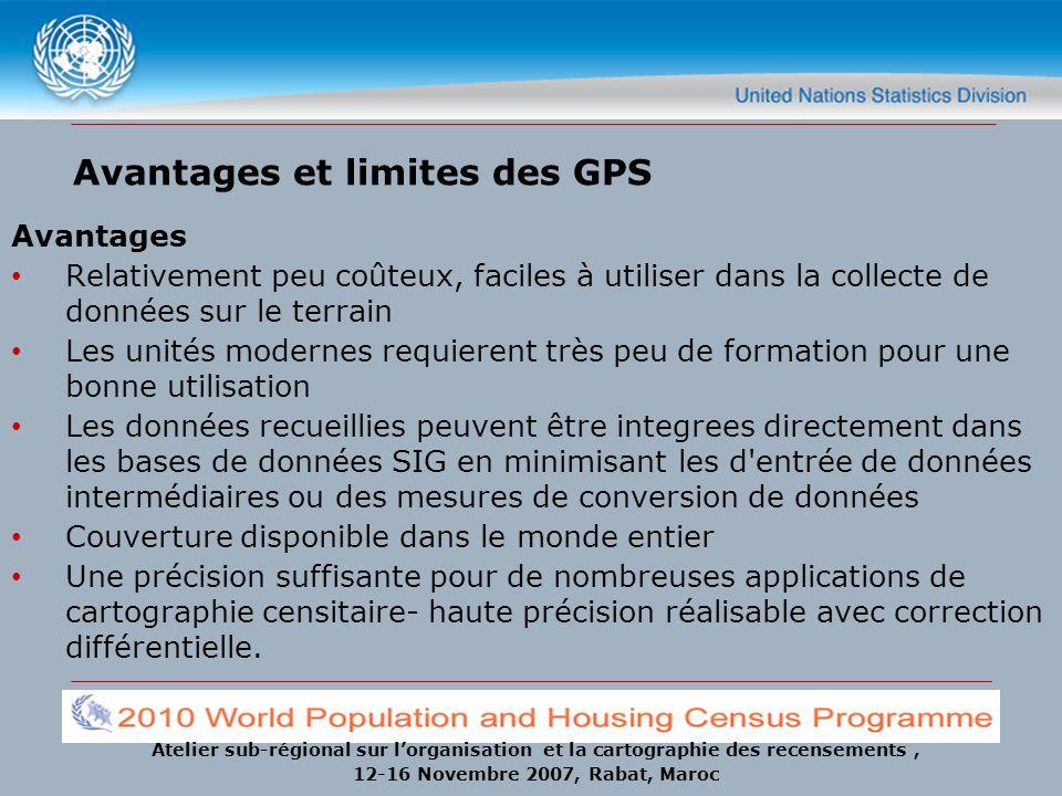 Avantages et limites des GPS