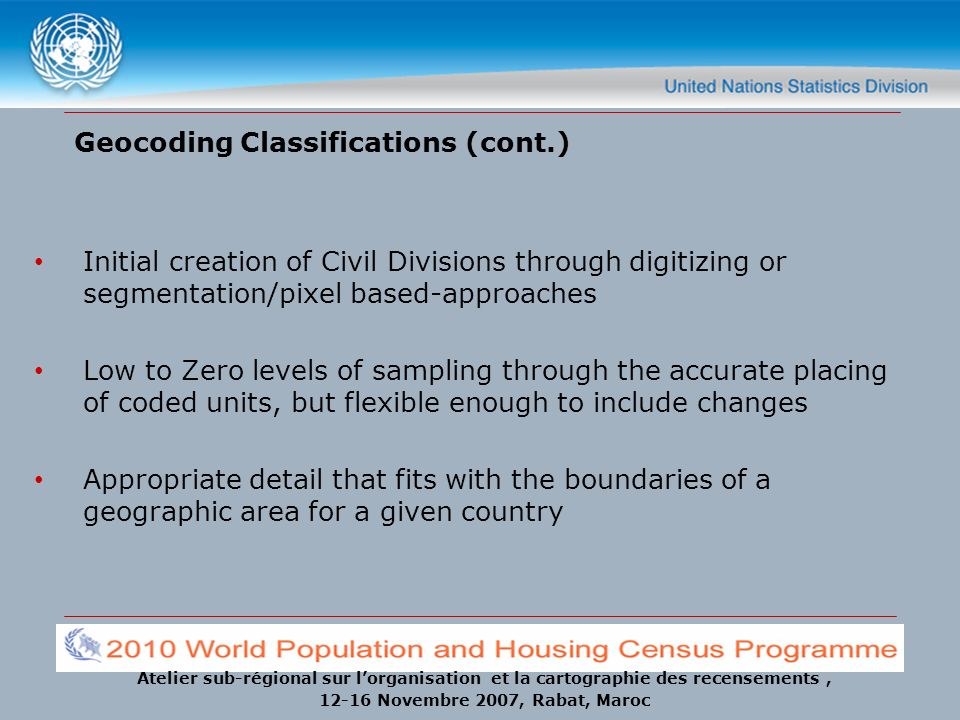 Geocoding Classifications (cont.)