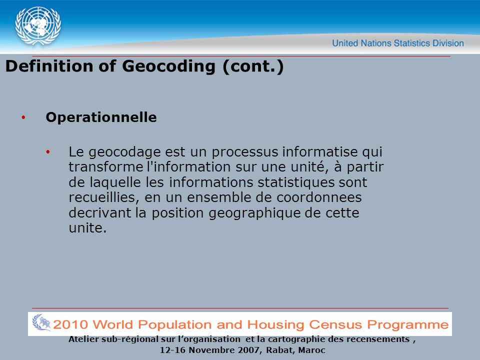 Definition of Geocoding (cont.)