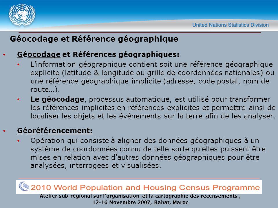 Géocodage et Référence géographique
