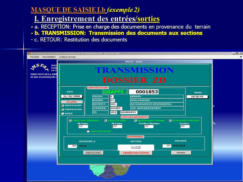 MASQUE DE SAISIE I. b (exemple 2) I
