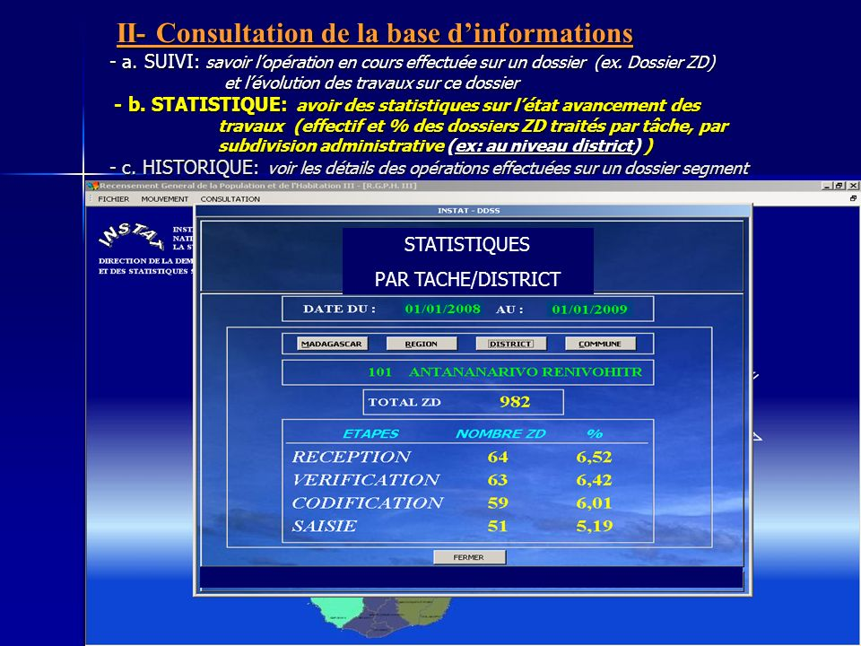 II- Consultation de la base d'informations - a