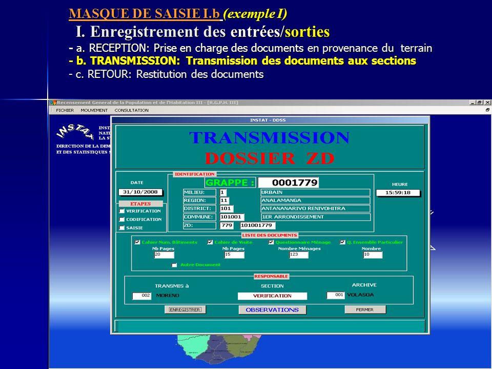 MASQUE DE SAISIE I. b (exemple I) I