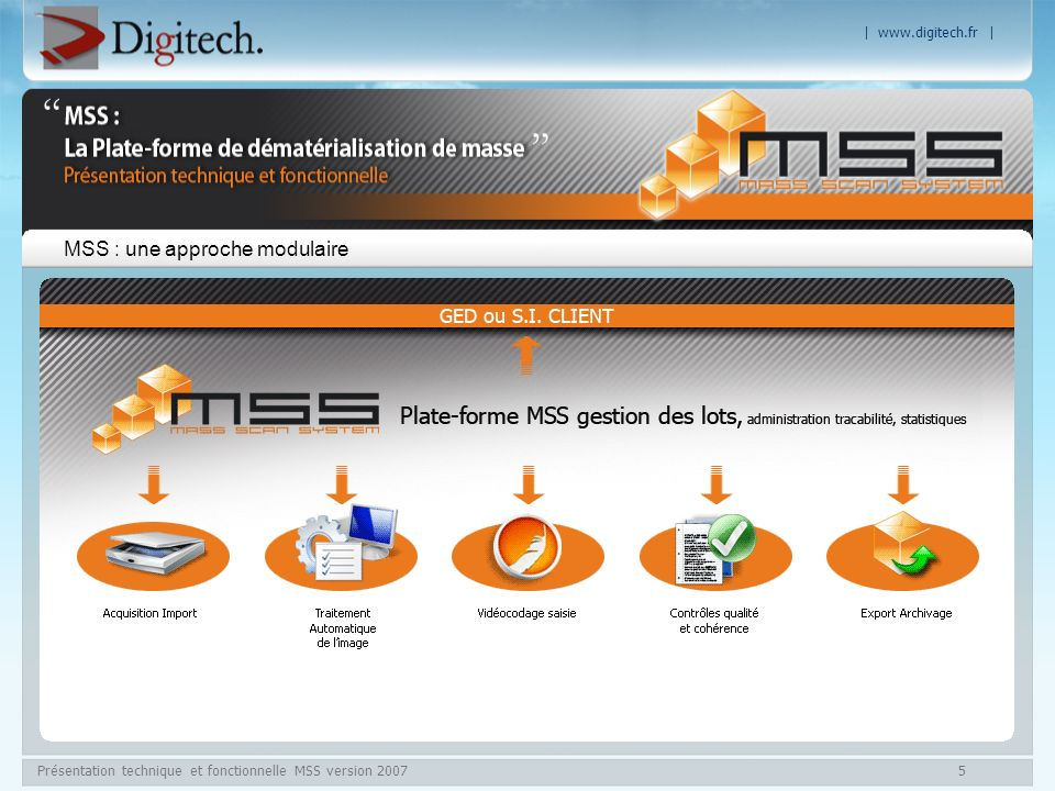 MSS : une approche modulaire