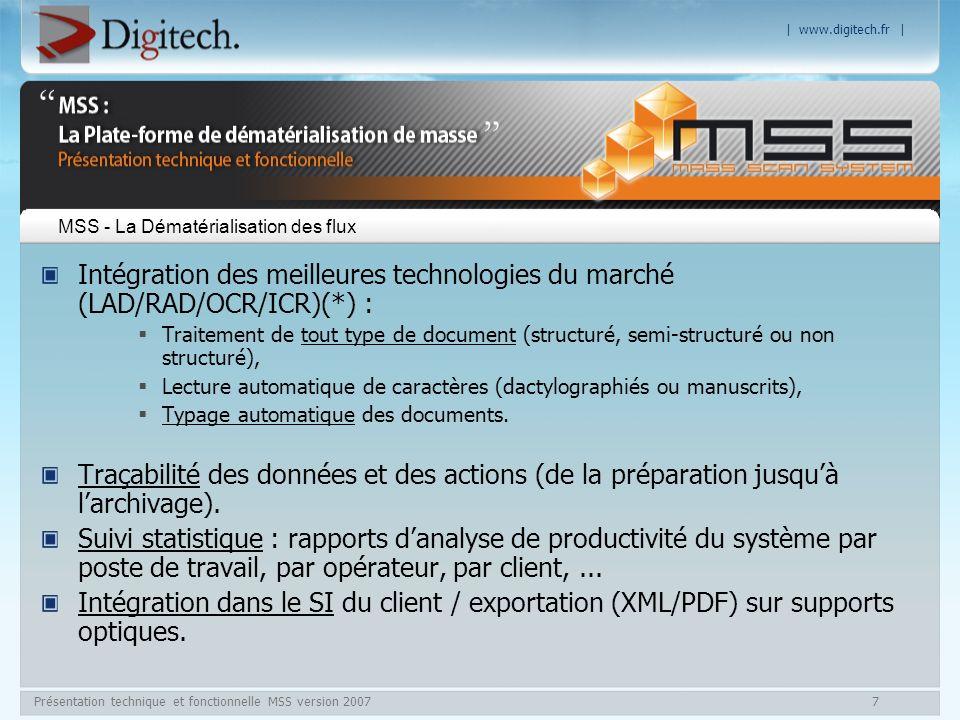 MSS - La Dématérialisation des flux