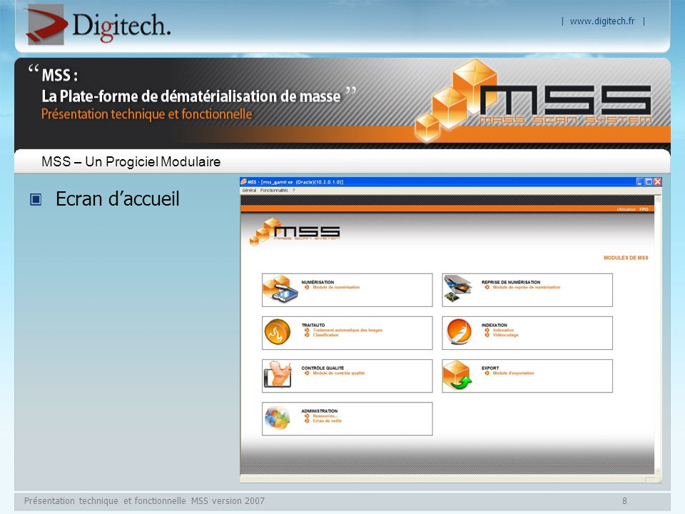 MSS – Un Progiciel Modulaire