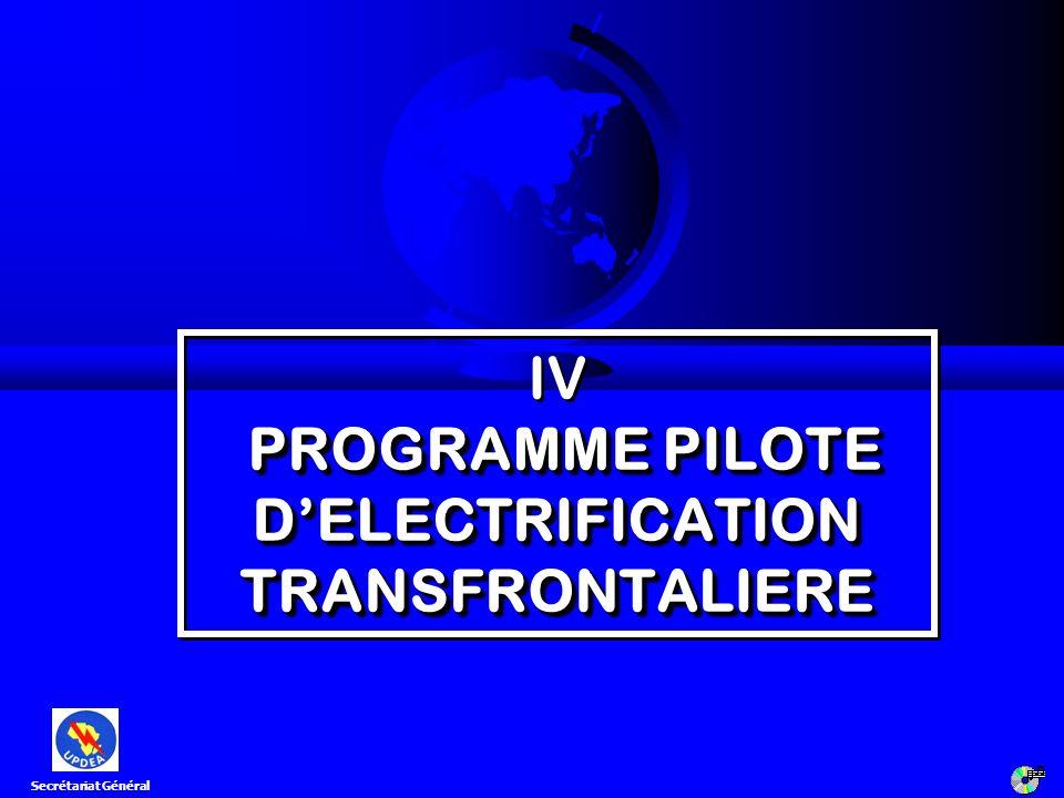 IV PROGRAMME PILOTE D'ELECTRIFICATION TRANSFRONTALIERE