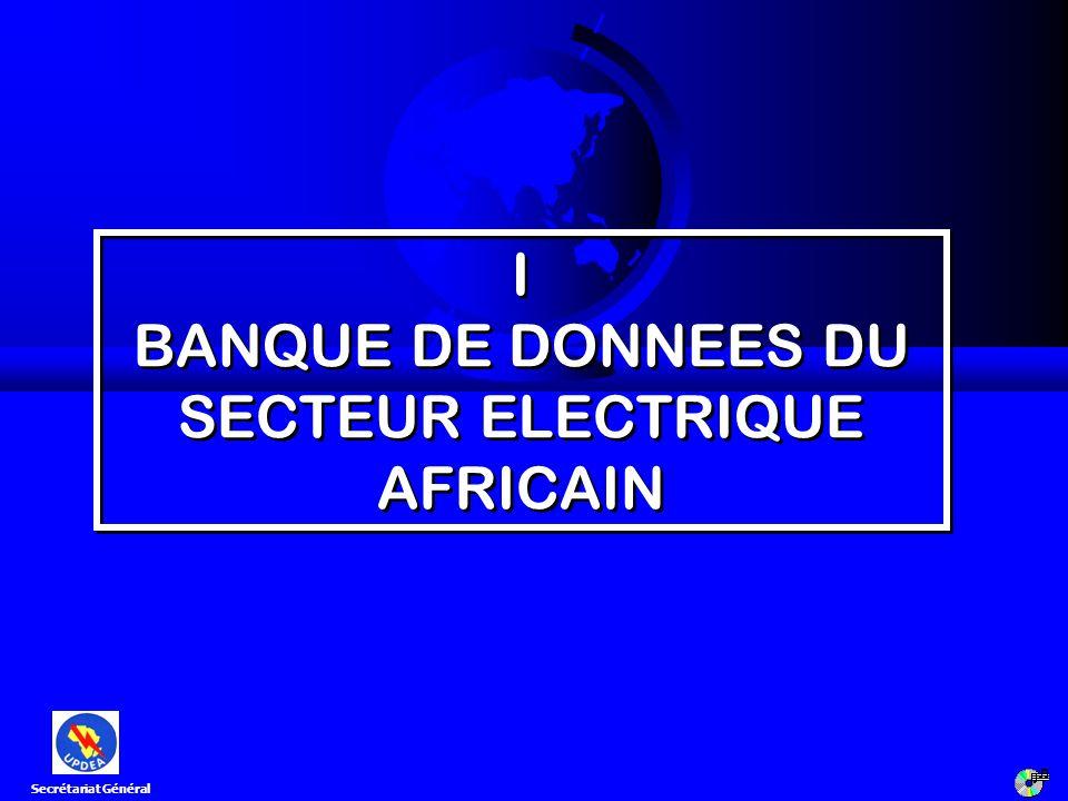 I BANQUE DE DONNEES DU SECTEUR ELECTRIQUE AFRICAIN