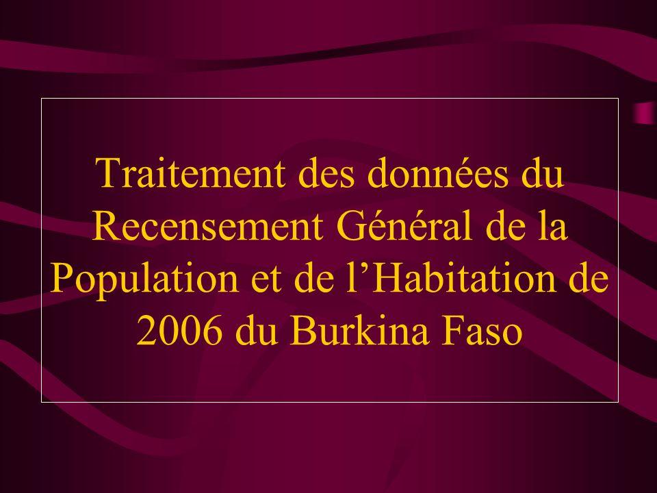 Traitement des données du Recensement Général de la Population et de l'Habitation de 2006 du Burkina Faso