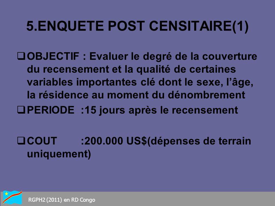 5.ENQUETE POST CENSITAIRE(1)