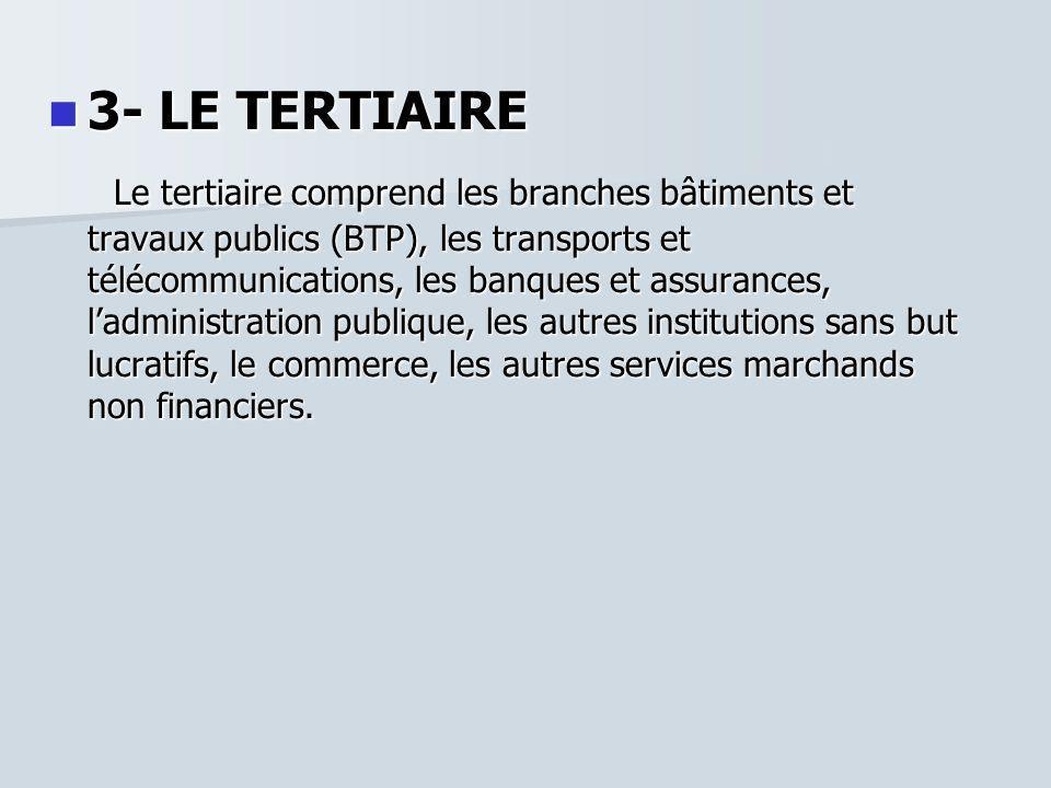 3- LE TERTIAIRE