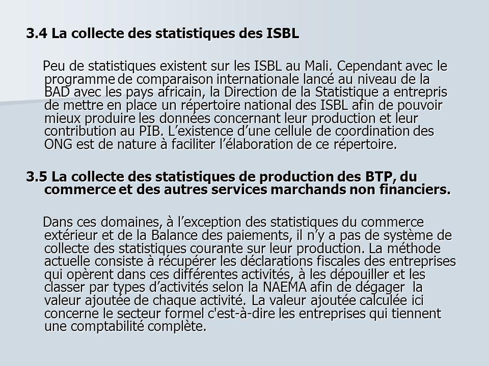 3.4 La collecte des statistiques des ISBL