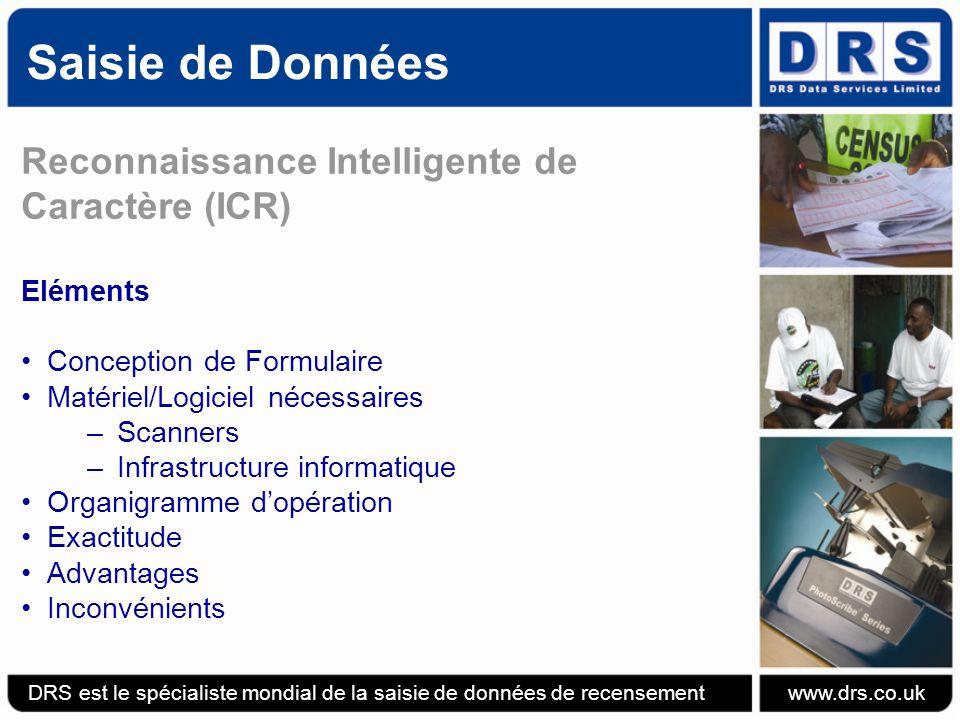 Saisie de Données Reconnaissance Intelligente de Caractère (ICR)