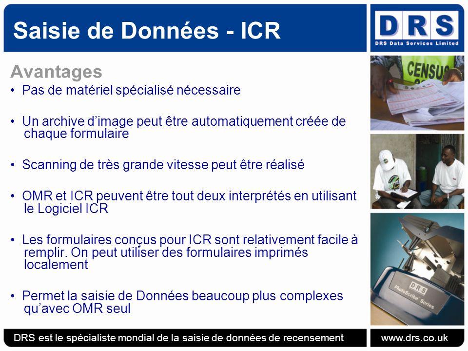 Saisie de Données - ICR Avantages