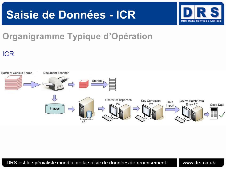 Saisie de Données - ICR Organigramme Typique d'Opération ICR