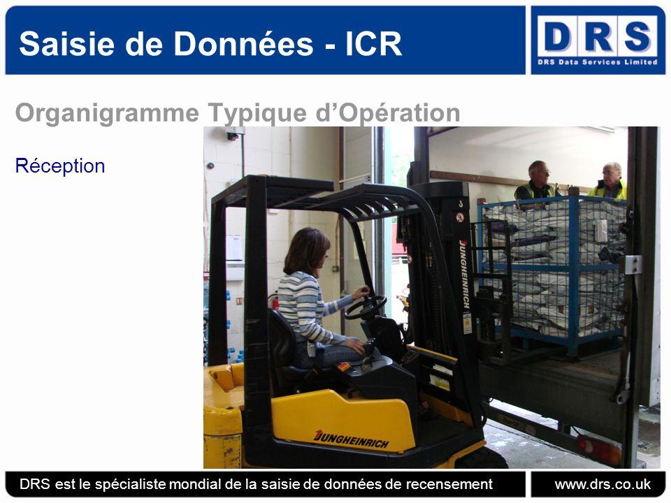 Saisie de Données - ICR Organigramme Typique d'Opération Réception