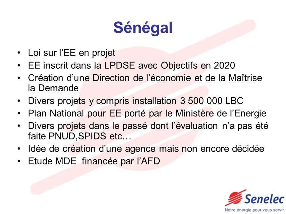 Sénégal Loi sur l'EE en projet