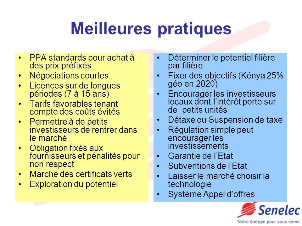 Meilleures pratiques PPA standards pour achat à des prix préfixés