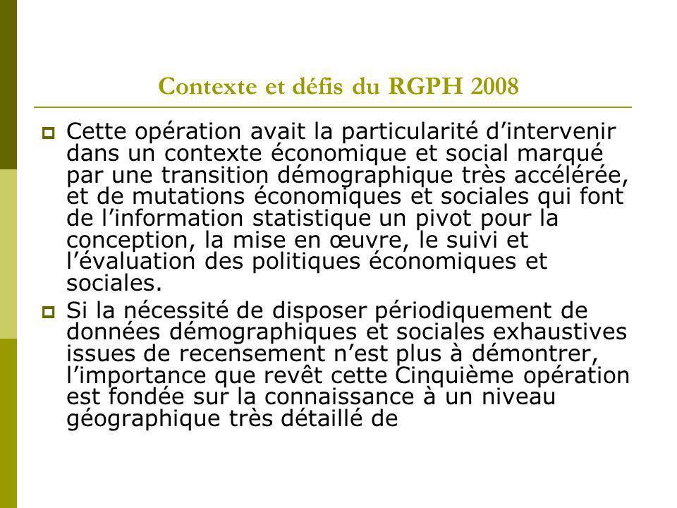Contexte et défis du RGPH 2008