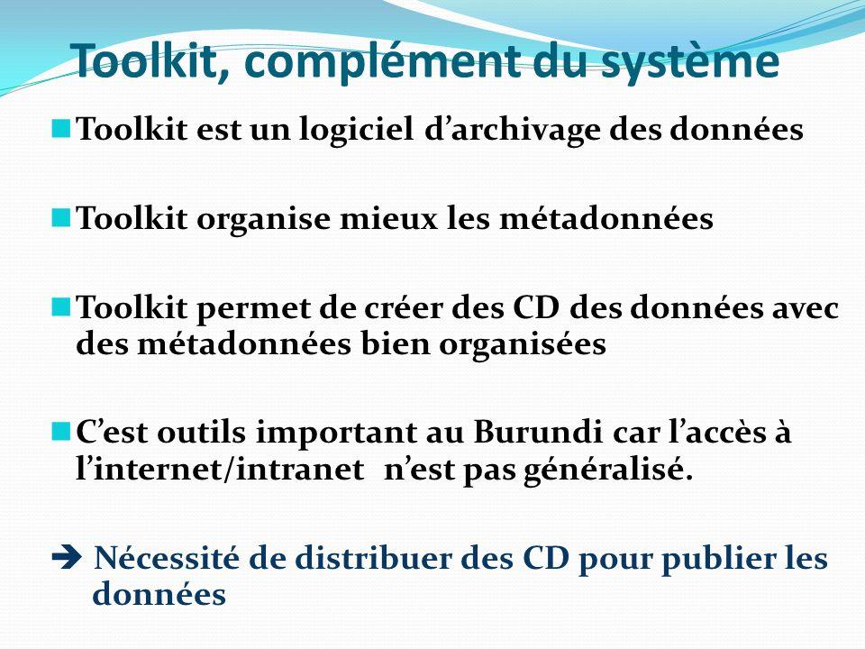Toolkit, complément du système