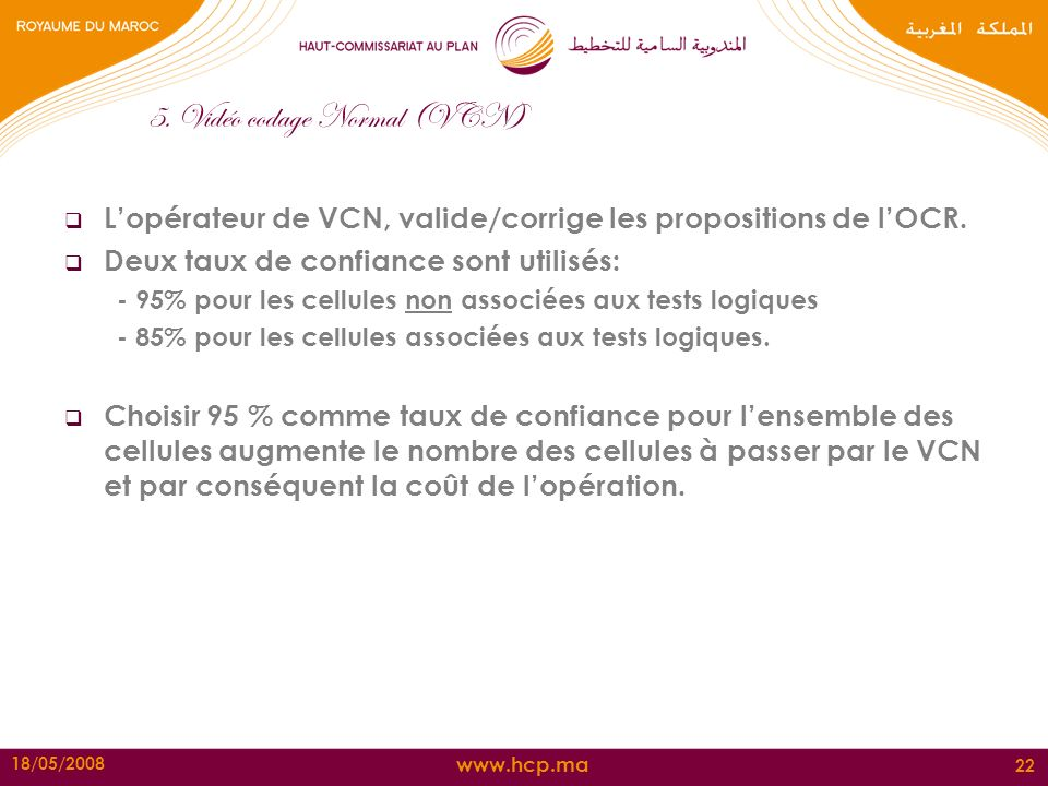 5. Vidéo codage Normal (VCN)