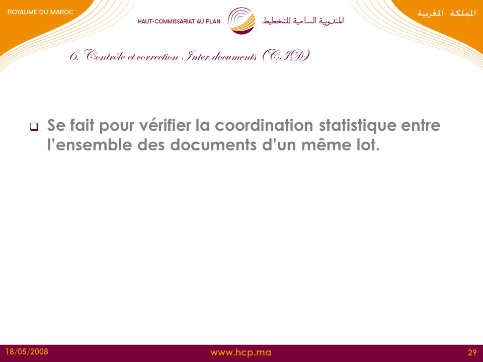 6. Contrôle et correction Inter documents (CID)