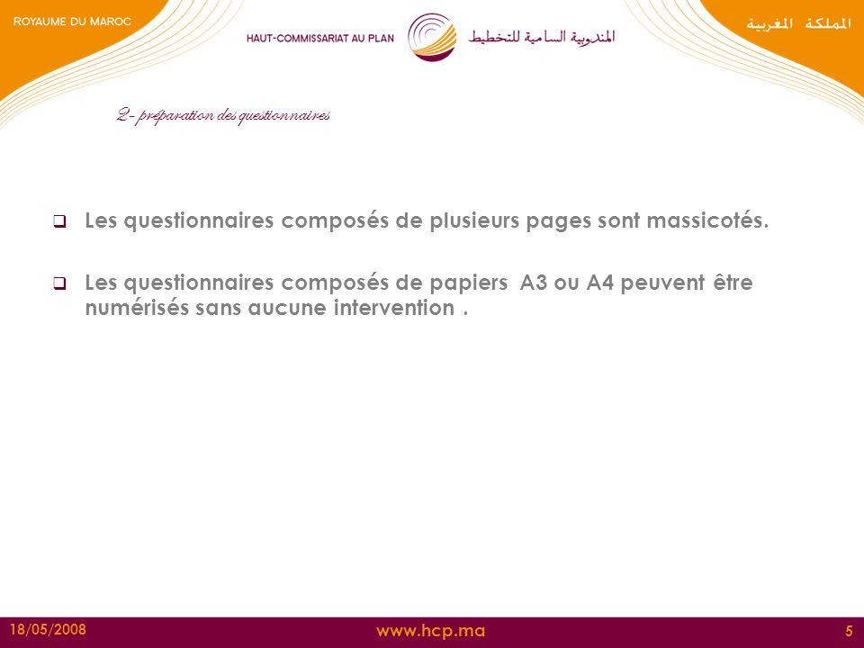 2- préparation des questionnaires