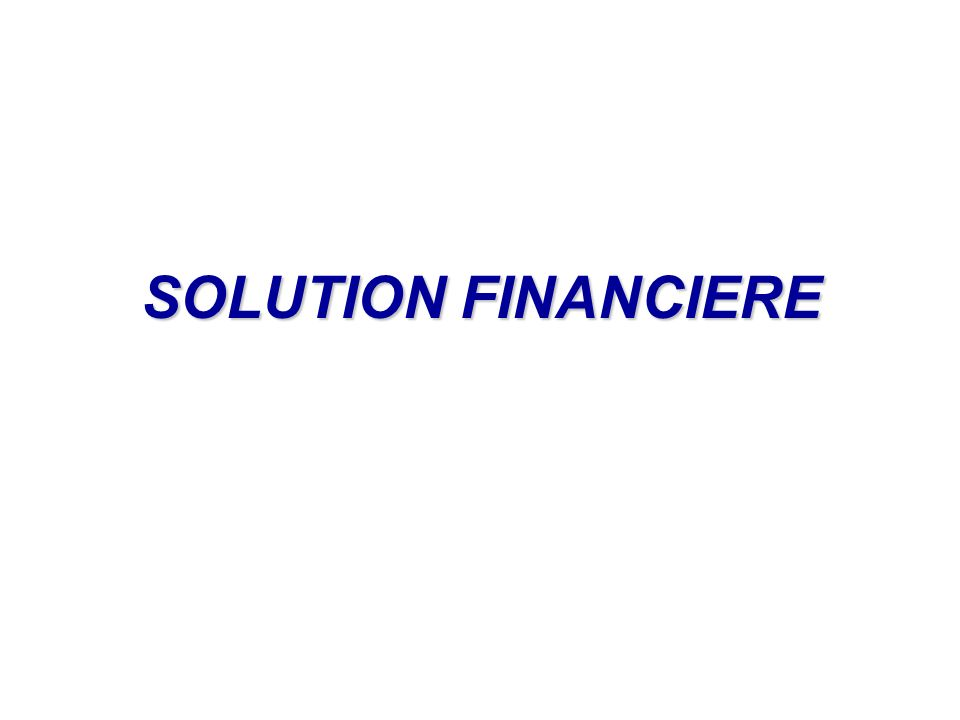 SOLUTION FINANCIERE