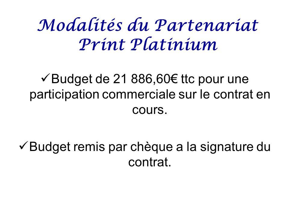 Modalités du Partenariat Print Platinium