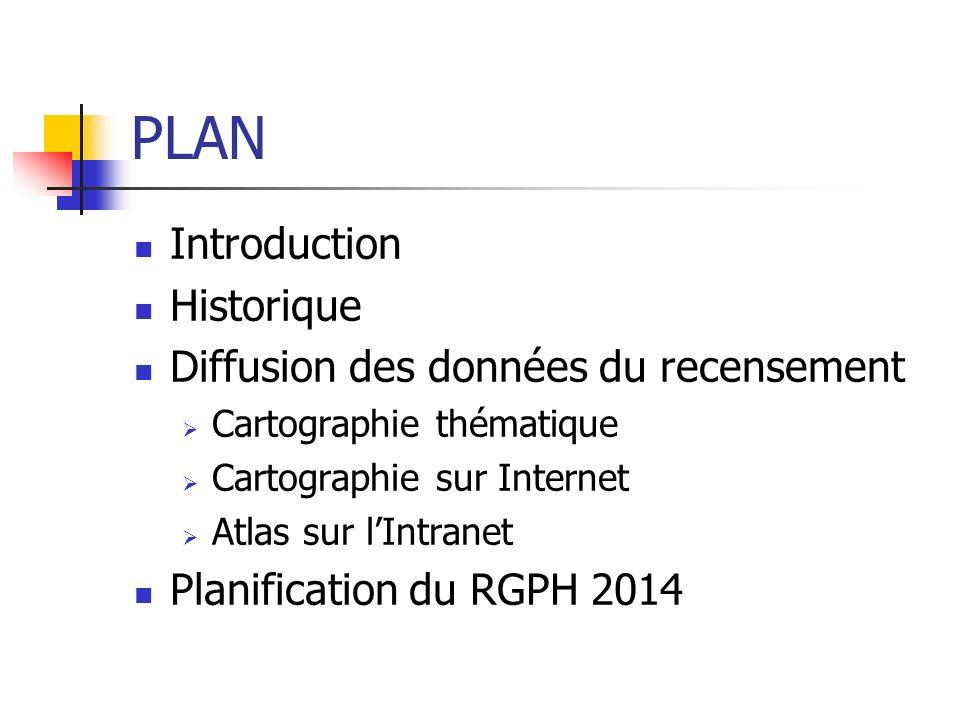 PLAN Introduction Historique Diffusion des données du recensement