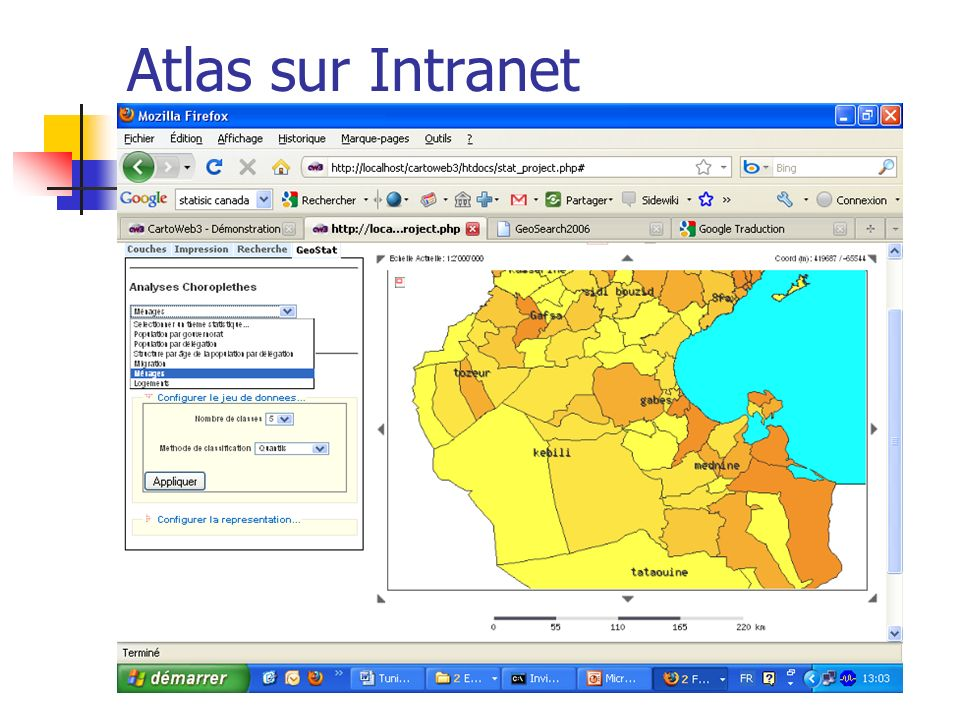 Atlas sur Intranet