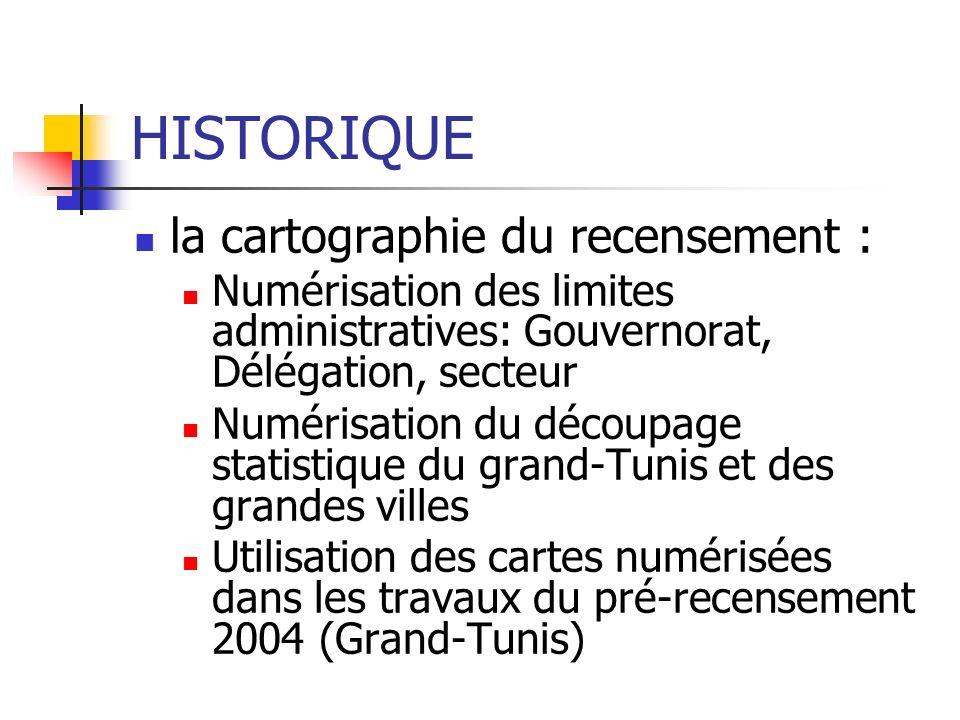 HISTORIQUE la cartographie du recensement :