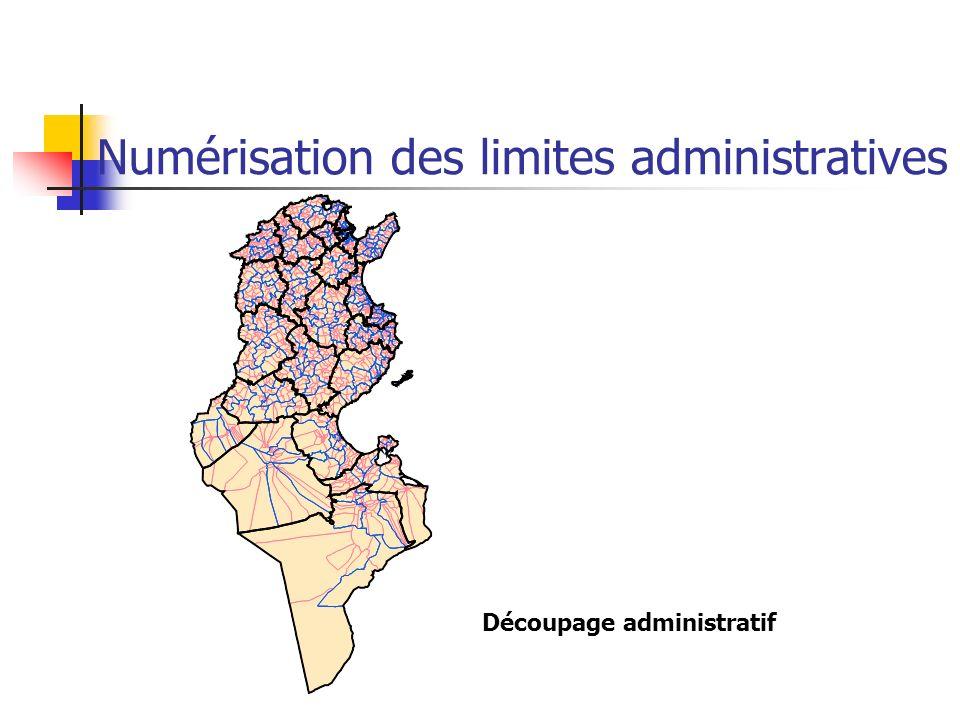 Numérisation des limites administratives