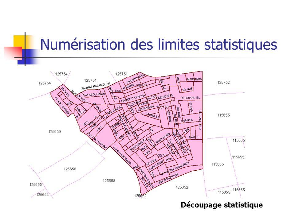 Numérisation des limites statistiques