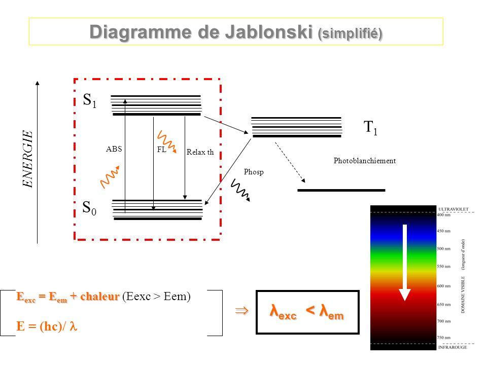 Diagramme de Jablonski (simplifié)