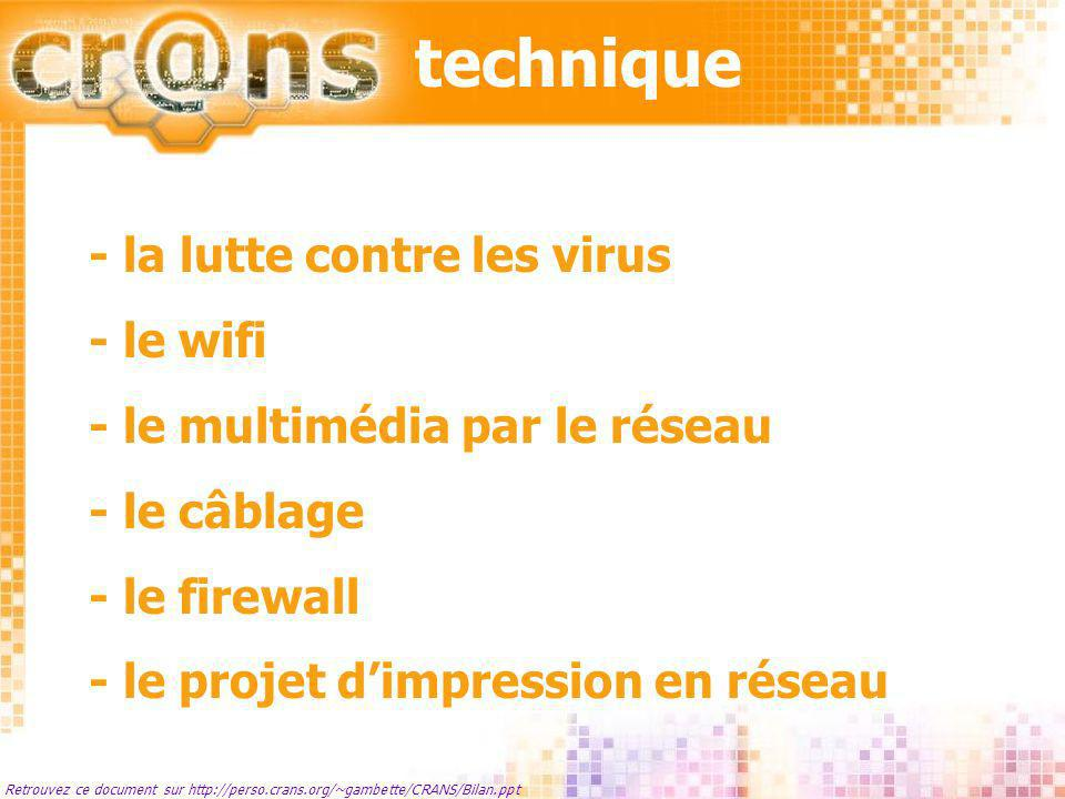 technique - la lutte contre les virus - le wifi