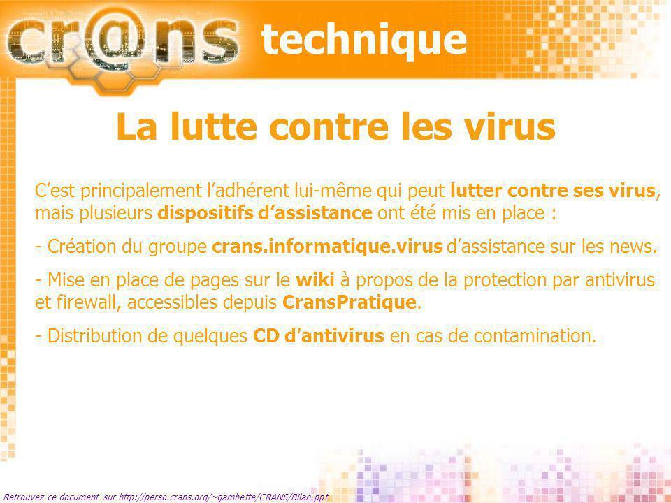 La lutte contre les virus